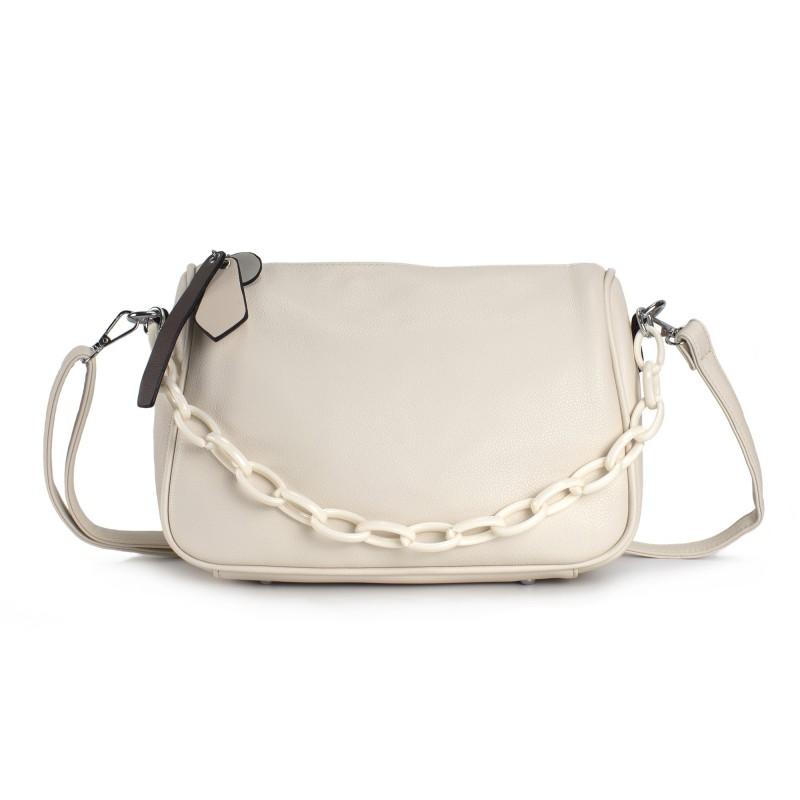 Женская сумка Pamela кремовая - 1 фото