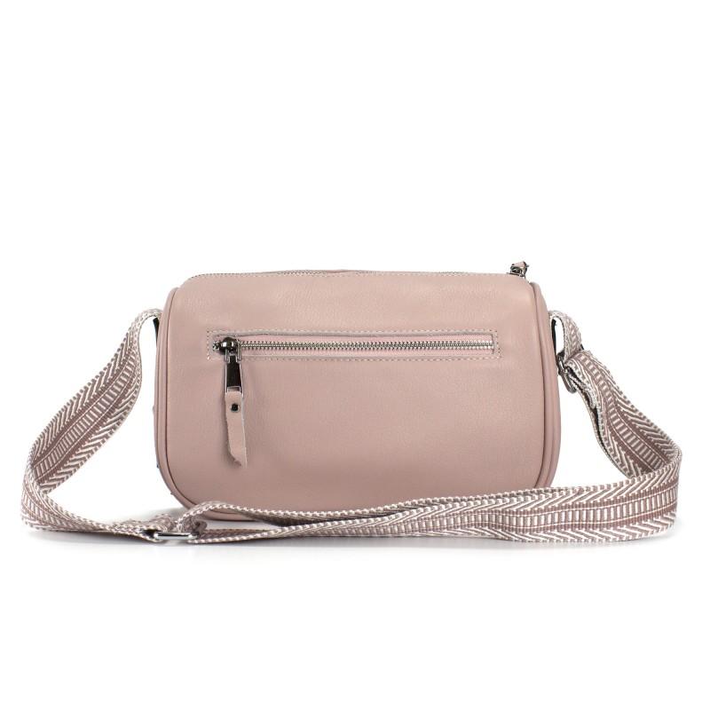 Женская кожаная сумка Diana светло-розовая пудра фото - 2