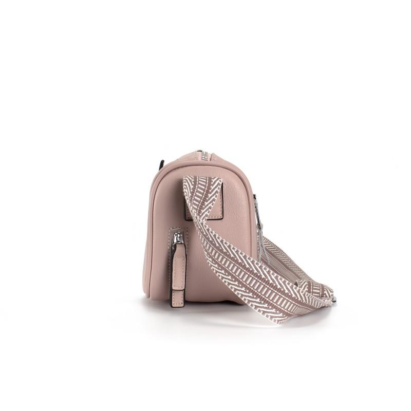 Женская кожаная сумка Diana светло-розовая пудра фото - 3