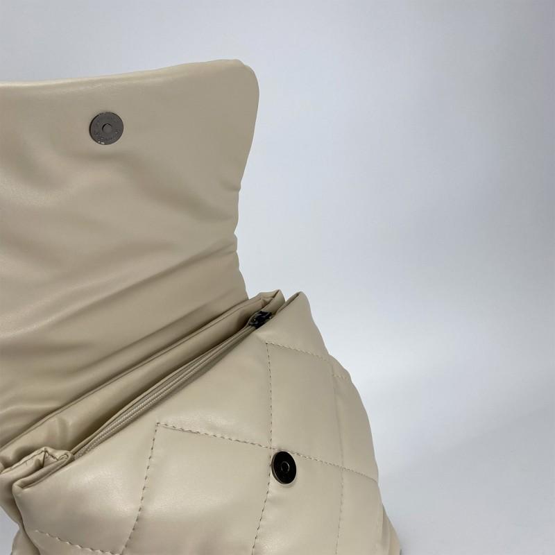Женский рюкзак Helen кремовый - 3 фото