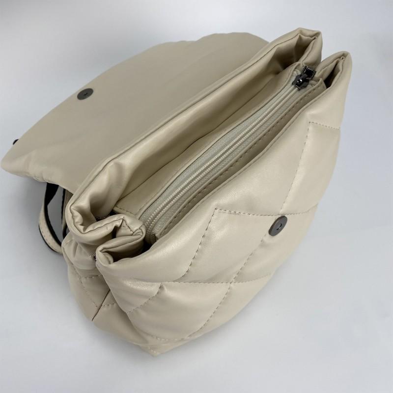 Женский рюкзак Helen кремовый - 4 фото
