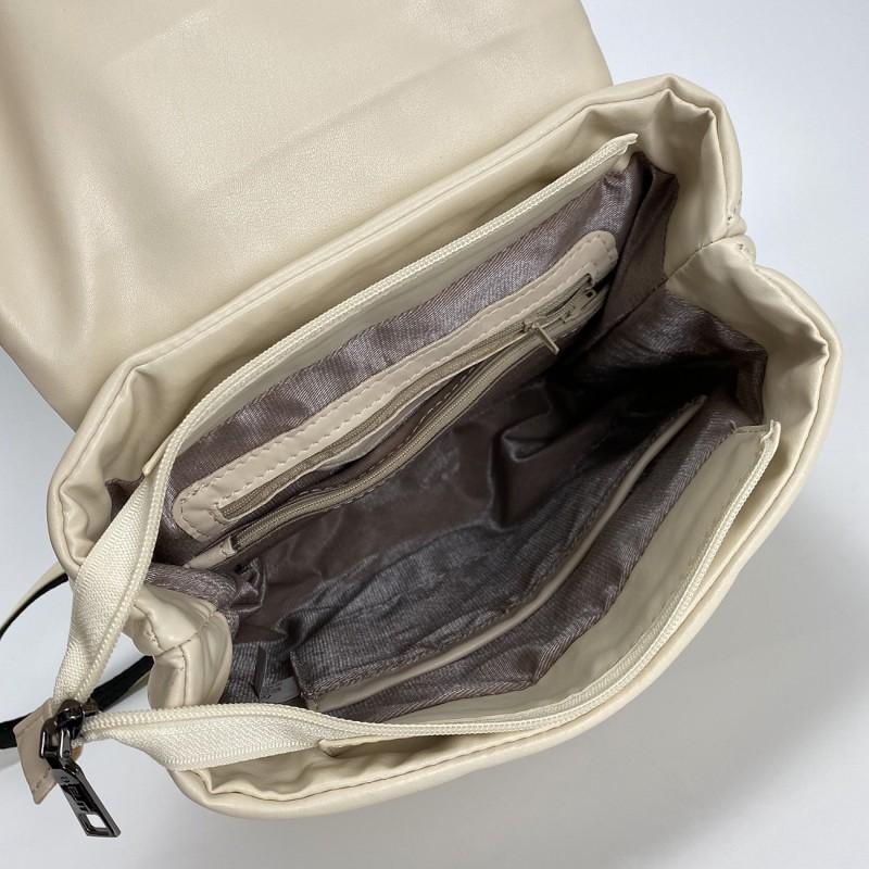 Женский рюкзак Helen кремовый - 5 фото