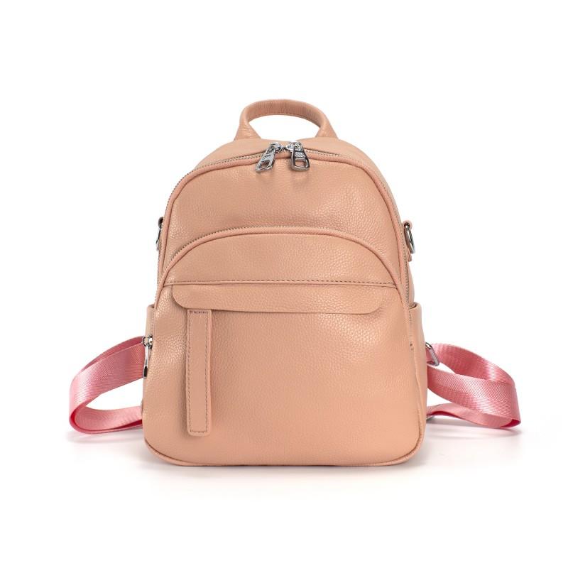 Женский рюкзак Jessica кожаный персиковый фото