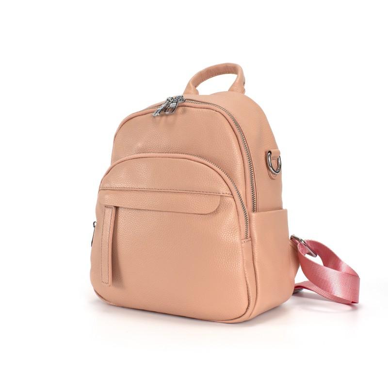 Женский рюкзак Jessica кожаный персиковый - 1 фото