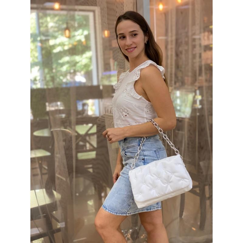 Женская сумка Jessie белая фото - 4