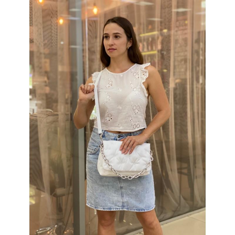 Женская сумка Jessie белая фото - 5