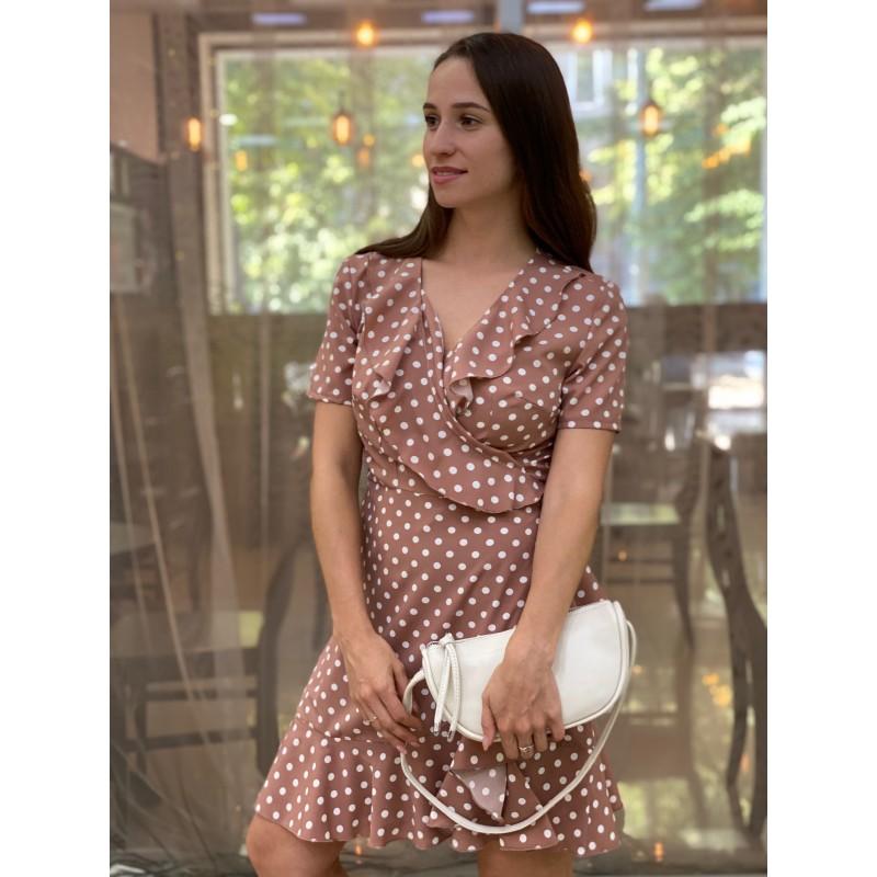 Женская кожаная сумка Rebecca кремовая - 2 фото