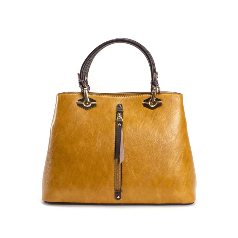 Женская классическая сумка Miranda горчичная фото