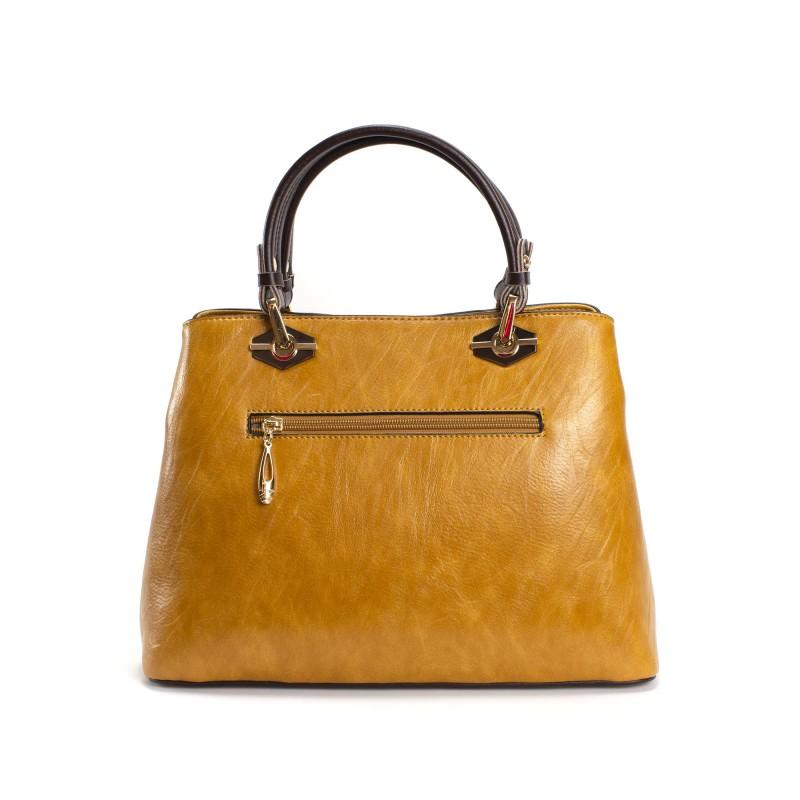 Женская классическая сумка Miranda горчичная фото - 1