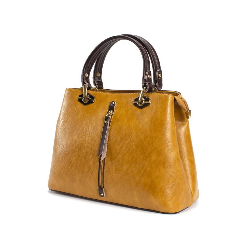 Женская классическая сумка Miranda горчичная фото - 2