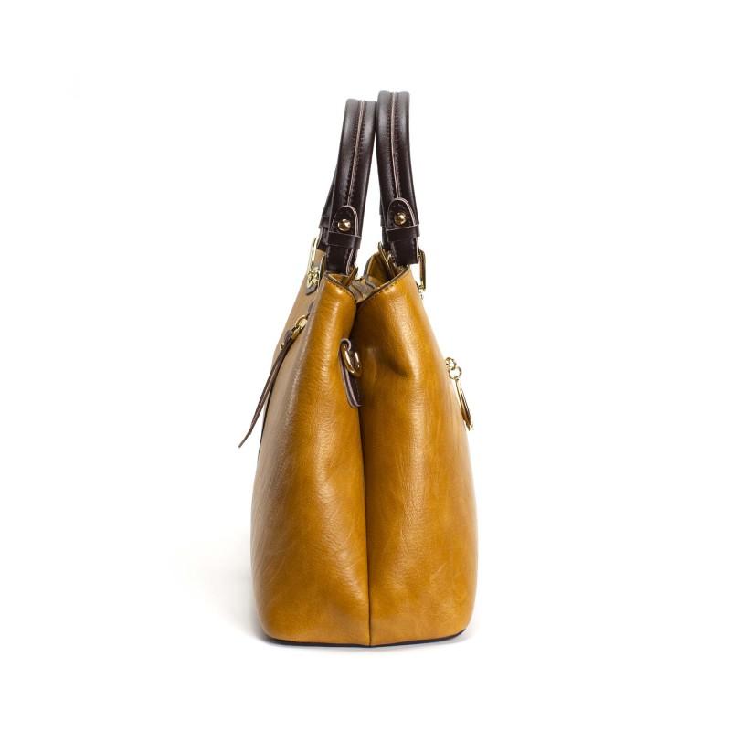 Женская классическая сумка Miranda горчичная фото - 3