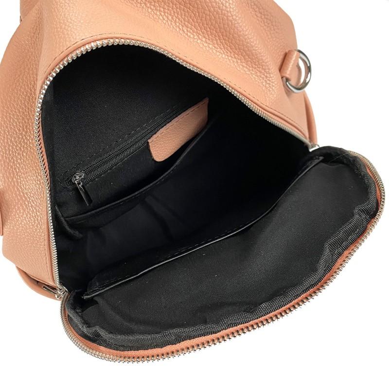 Женский рюкзак Jessica кожаный персиковый - 11 фото