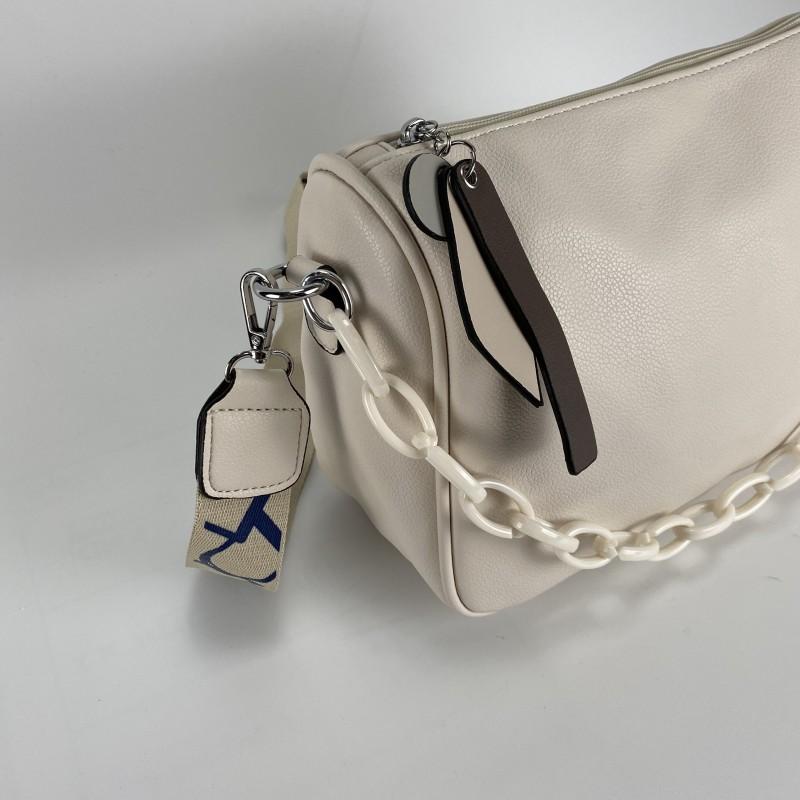 Женская сумка Pamela кремовая - 7 фото