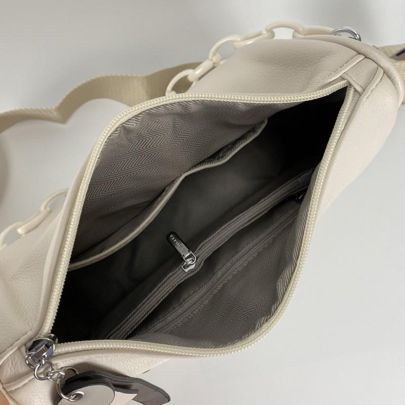 Женская сумка Pamela кремовая - 8 фото