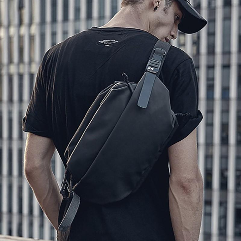 Мужская сумка Mackar Urban кросс боди через плечо черная фото - 3