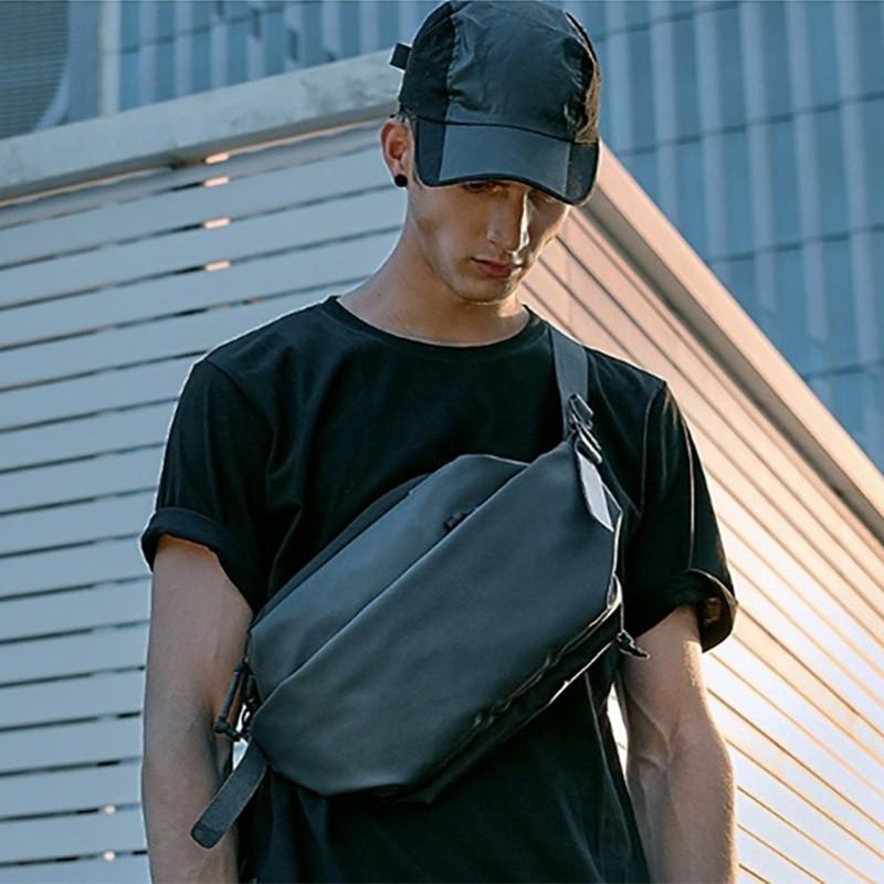 Мужская сумка Mackar Urban кросс боди через плечо черная фото - 4