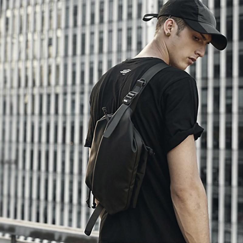 Мужская сумка Mackar Urban кросс боди через плечо черная фото - 5