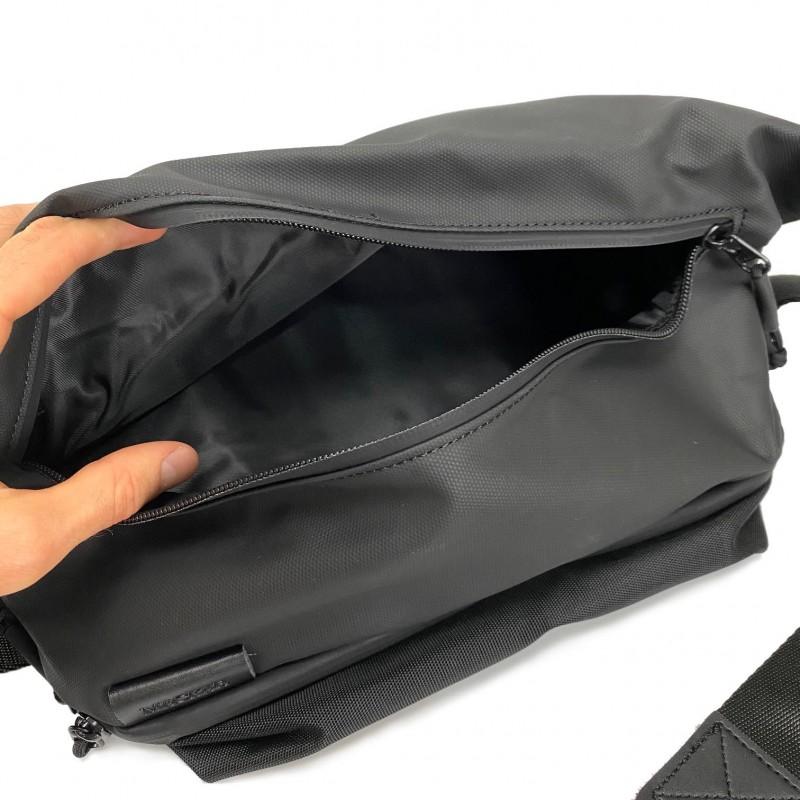 Мужская сумка Mackar Urban кросс боди через плечо черная фото - 9