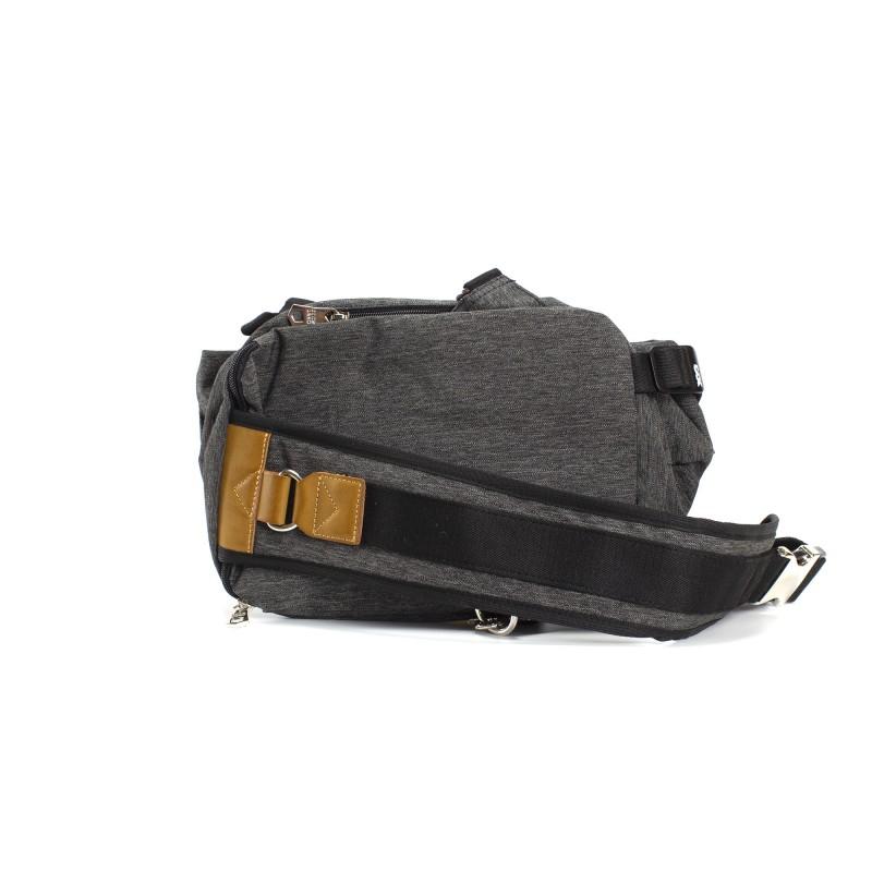Мужская сумка Mackar Style кросс боди через плечо серая - 1 фото