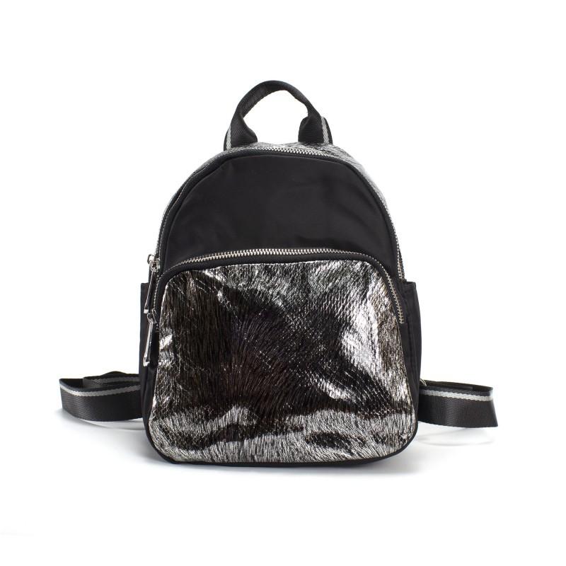 Женский рюкзак Juliet черный с серебром фото