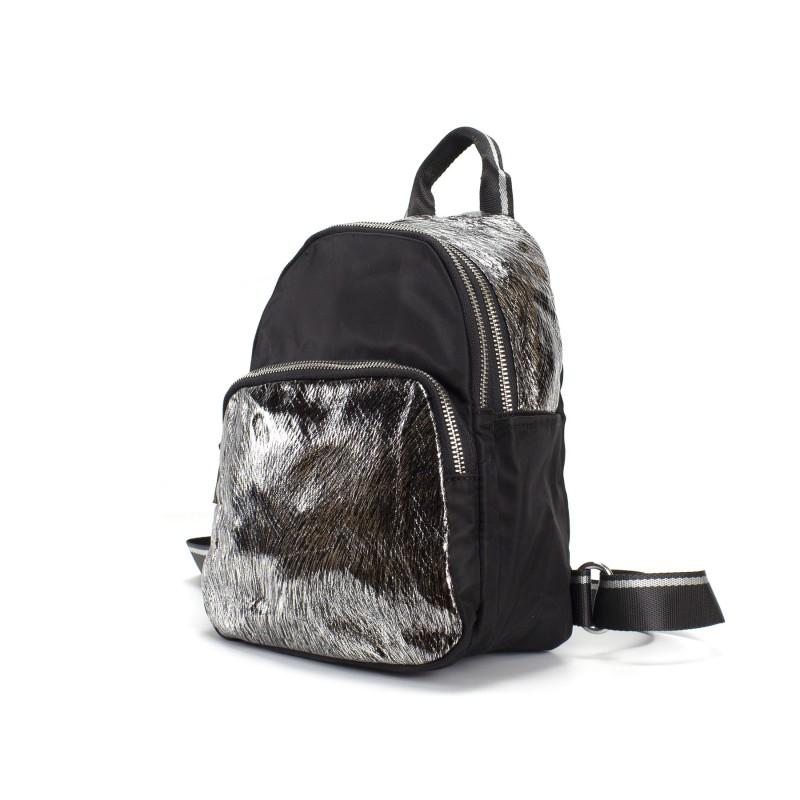 Женский рюкзак Juliet черный с серебром - 1 фото