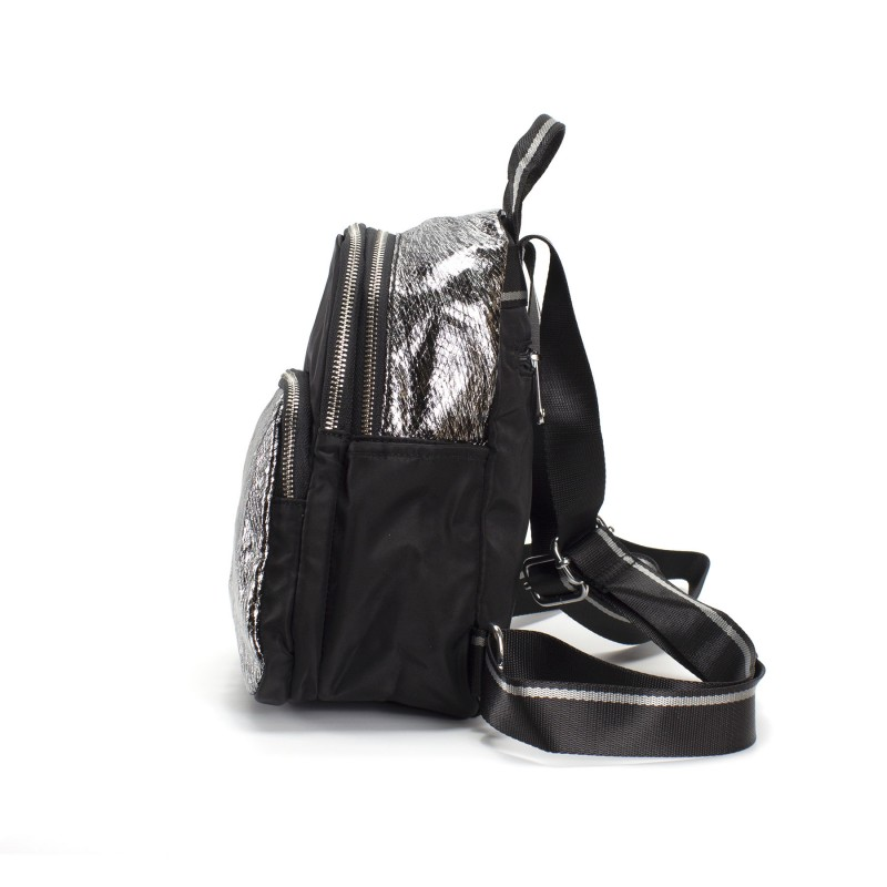 Женский рюкзак Juliet черный с серебром - 2 фото