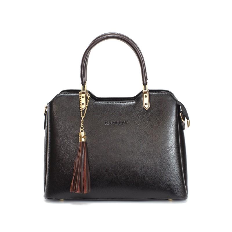 Женская классическая сумка Isa Paulina FS черная фото