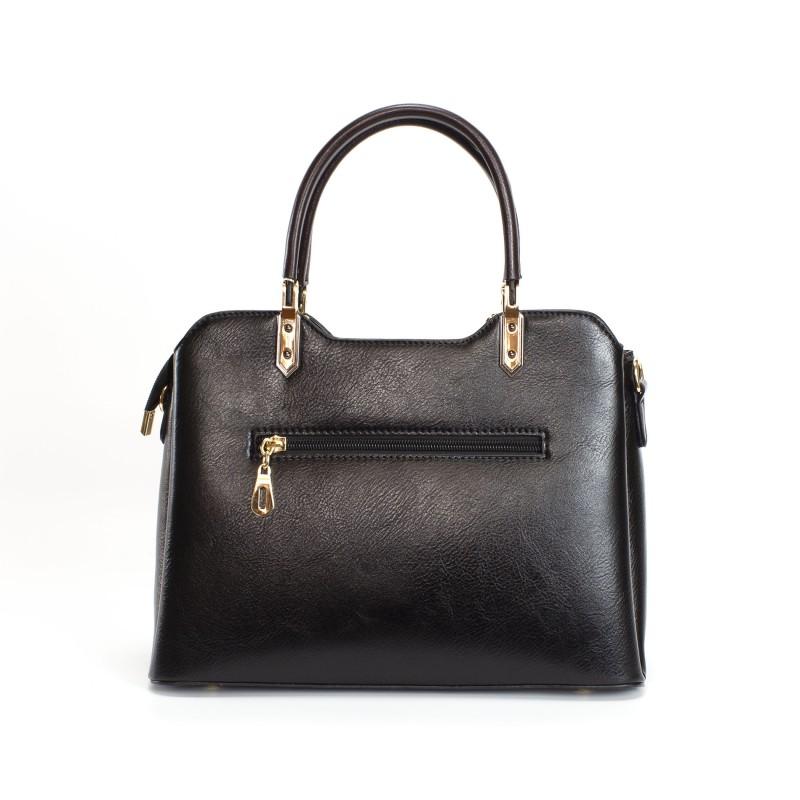 Женская классическая сумка Isa Paulina FS черная - 1 фото