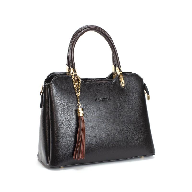 Женская классическая сумка Isa Paulina FS черная - 2 фото