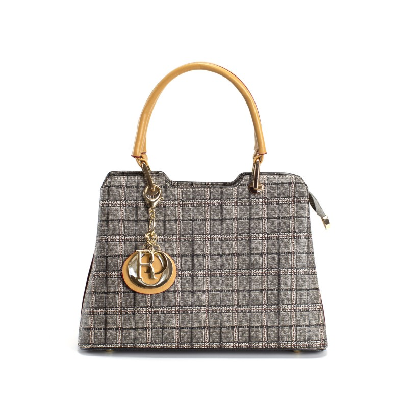 Женская классическая сумка Melody серая фото