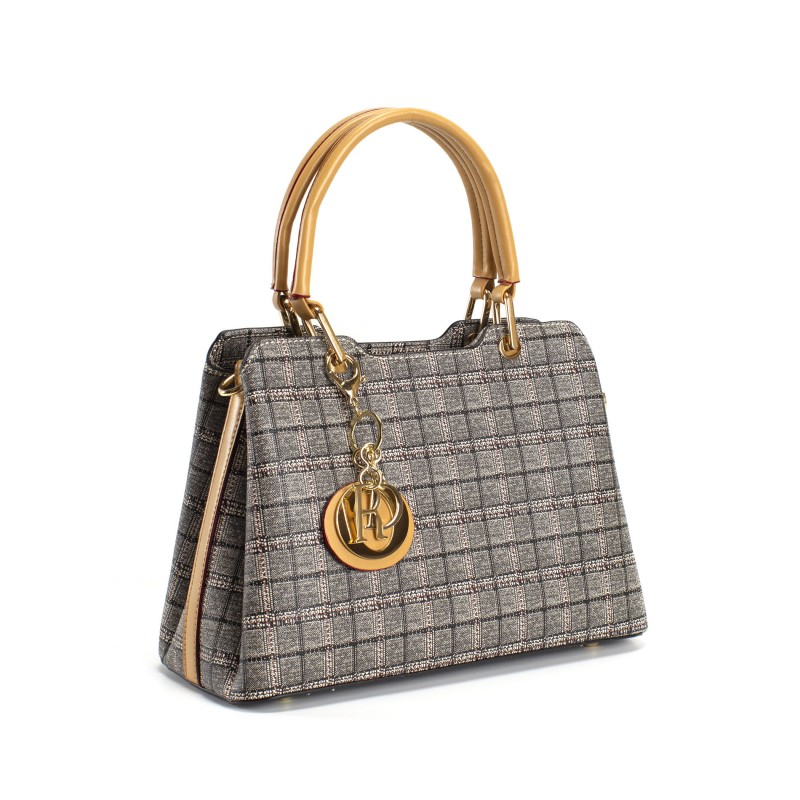 Женская классическая сумка Melody серая - 1 фото