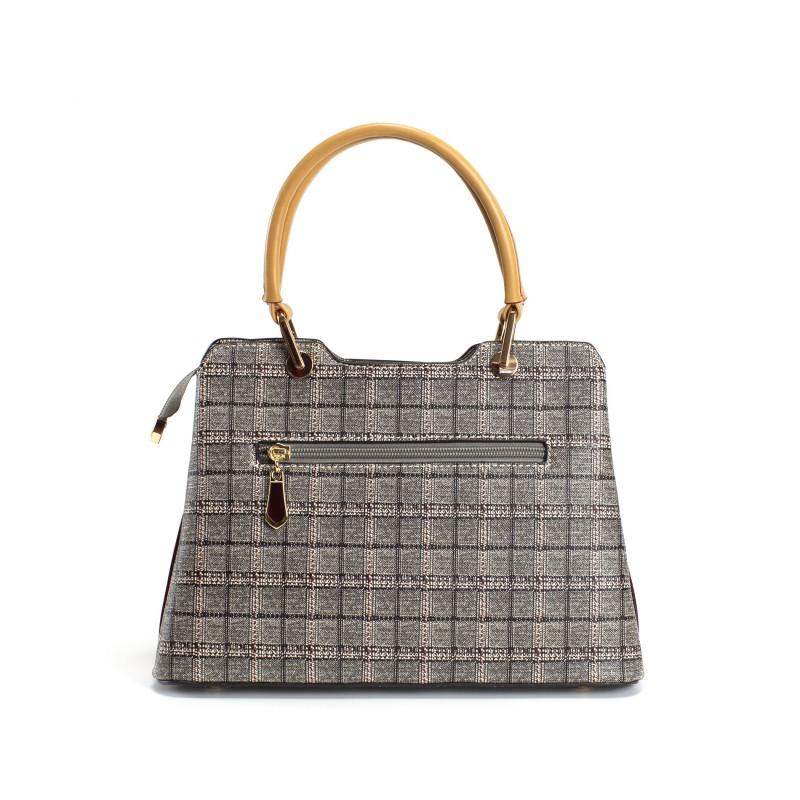 Женская классическая сумка Melody серая - 3 фото