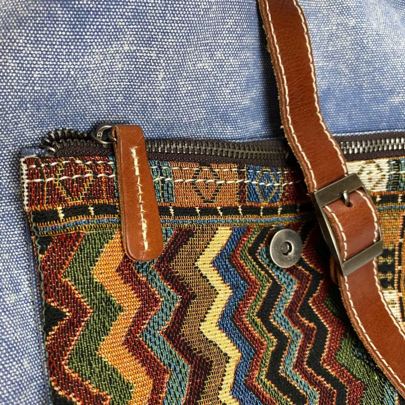 Женский рюкзак Tact голубой - 4 фото