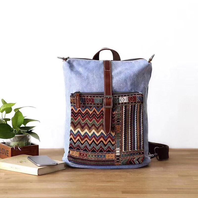 Женский рюкзак Tact голубой - 6 фото