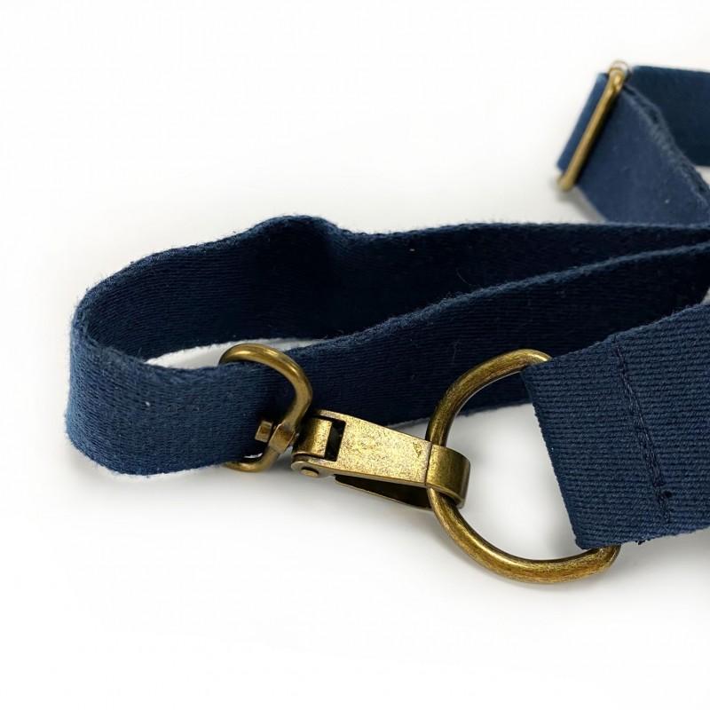 Мужская сумка James кросс боди джинсовая синяя - 9 фото