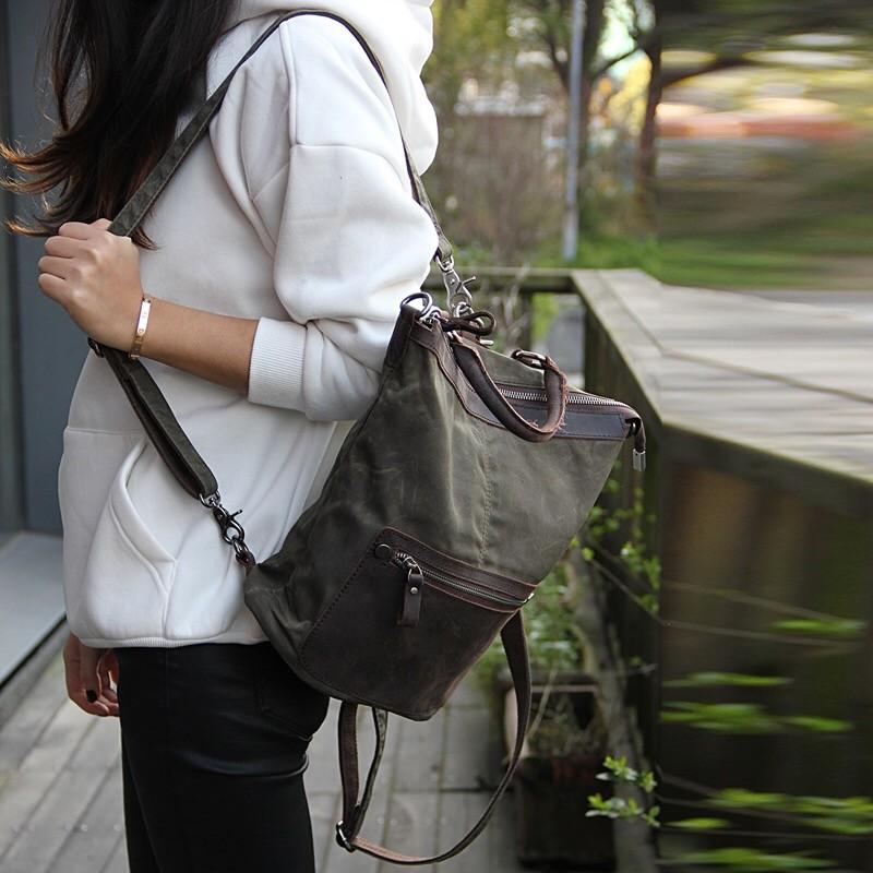 Женский рюкзак Casual way хаки фото - 1