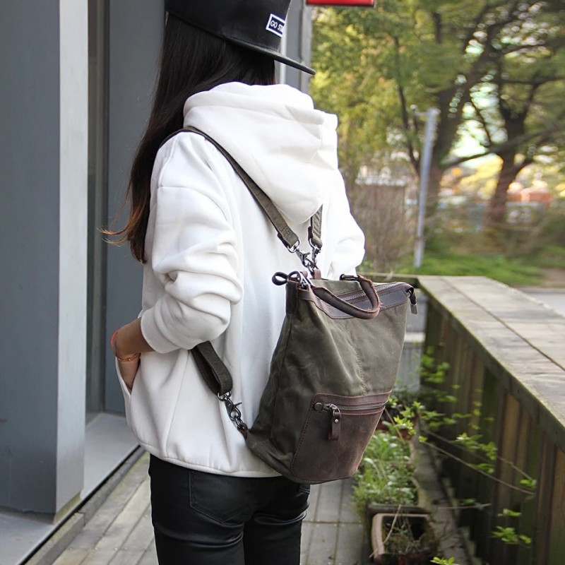 Женский рюкзак Casual way хаки фото - 2