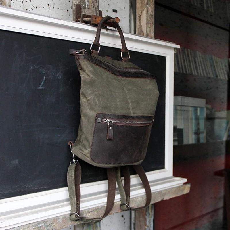 Женский рюкзак Casual way хаки фото - 4