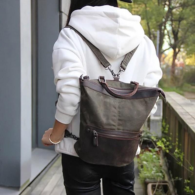 Женский рюкзак Casual way хаки фото - 5