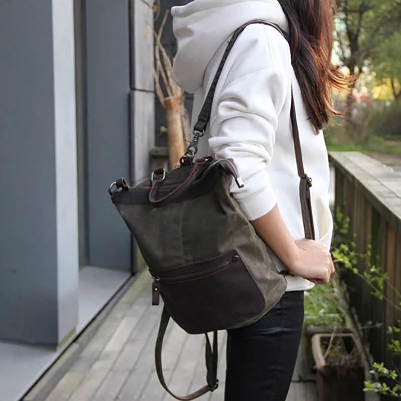 Женский рюкзак Casual way хаки фото - 6
