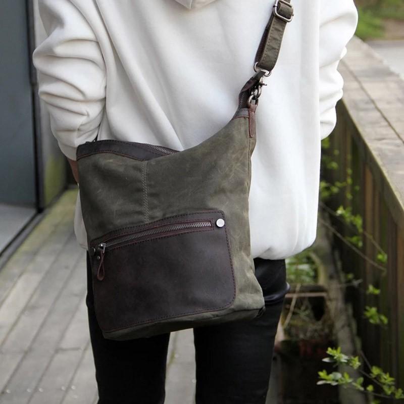Женский рюкзак Casual way хаки фото - 7