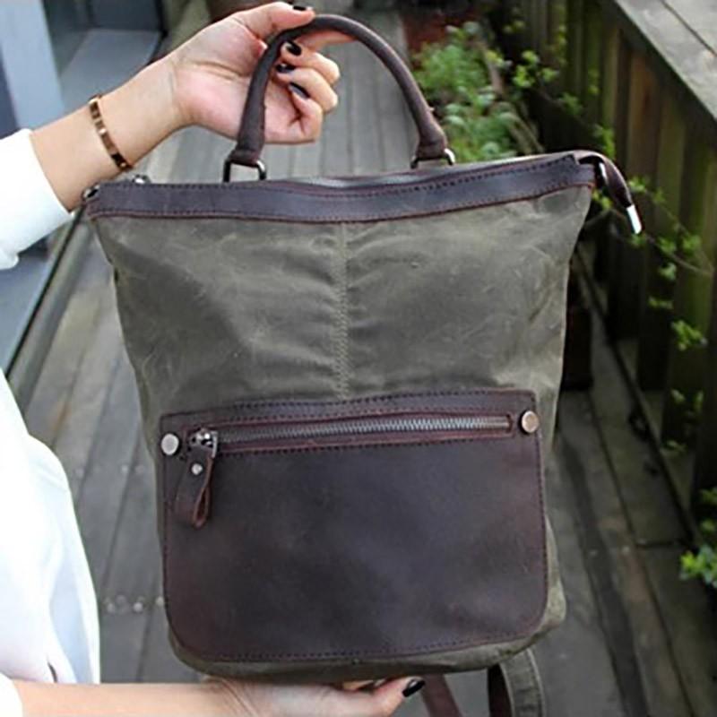 Женский рюкзак Casual way хаки фото - 10