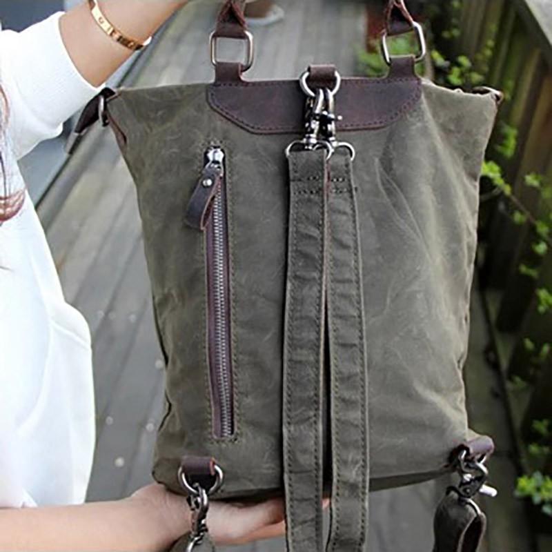 Женский рюкзак Casual way хаки фото - 11