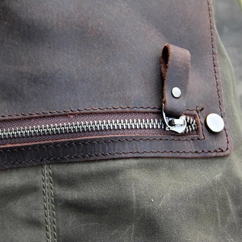Женский рюкзак Casual way хаки фото - 14