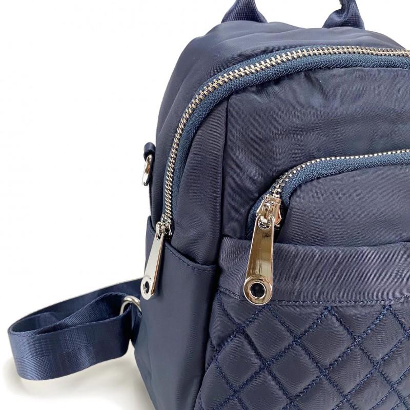 Женский рюкзак Viva синий - 7 фото