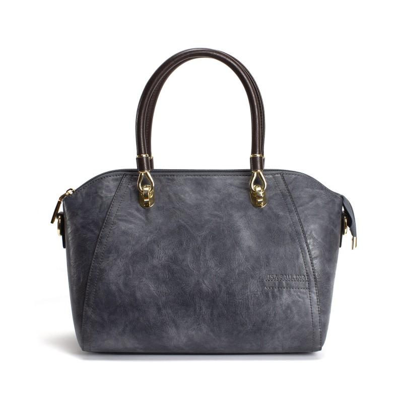 Женская классическая сумка Isa Paulina DS серо-синяя фото