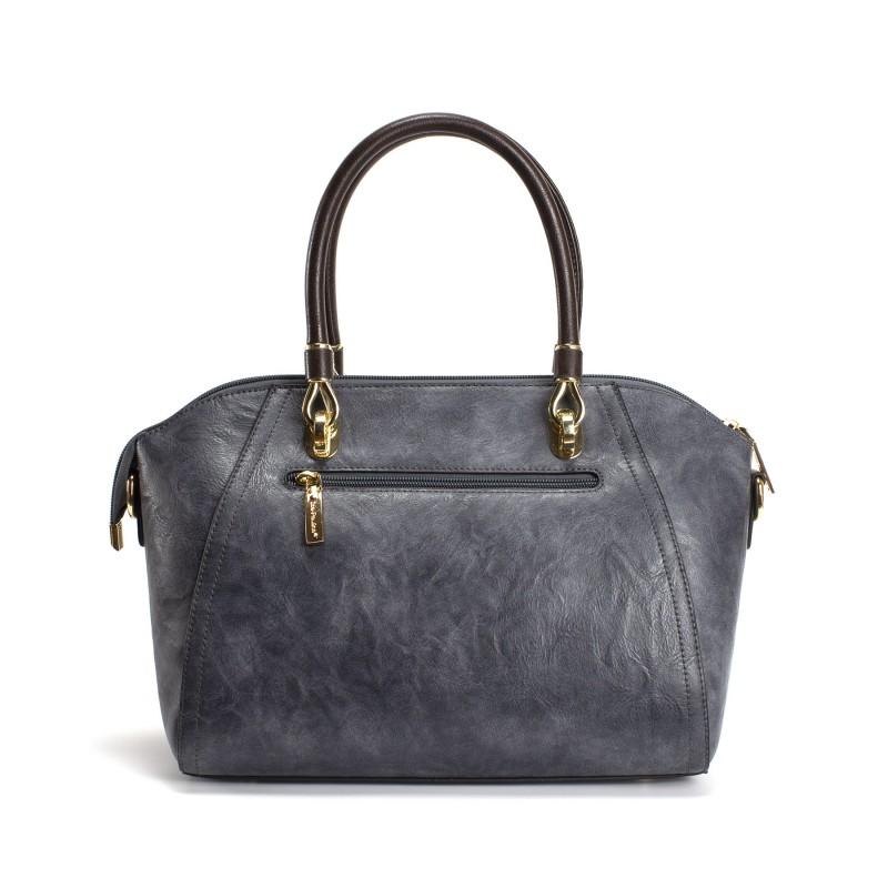 Женская классическая сумка Isa Paulina DS серо-синяя - 2 фото