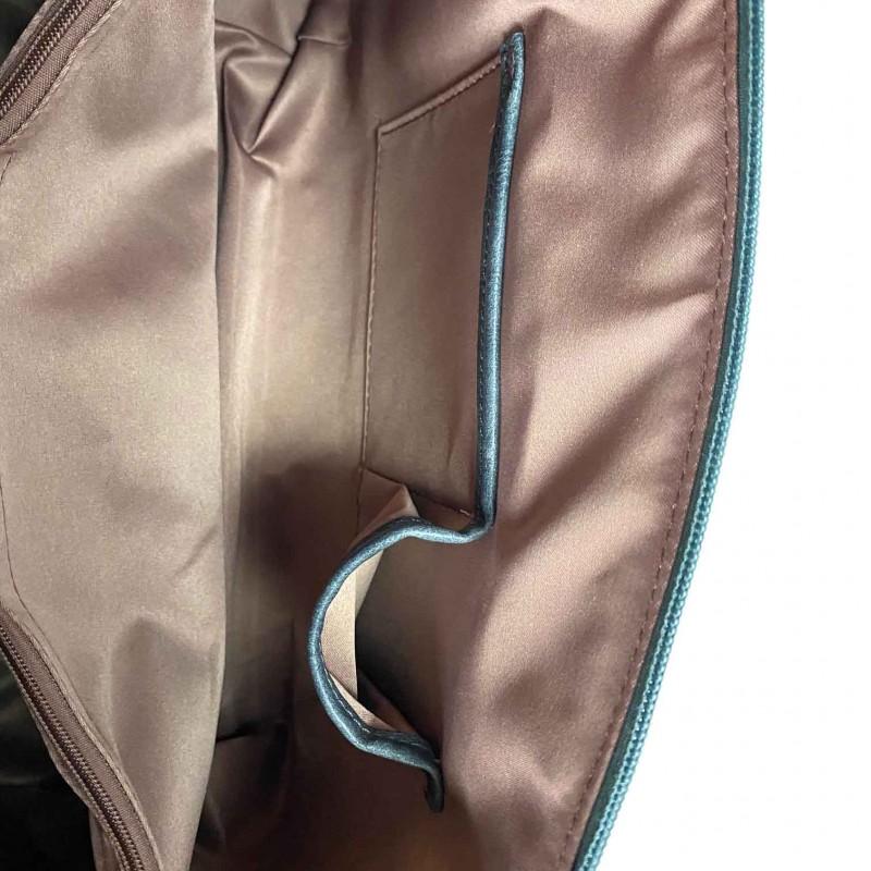 Женская классическая сумка Isa Paulina DS серо-синяя - 9 фото