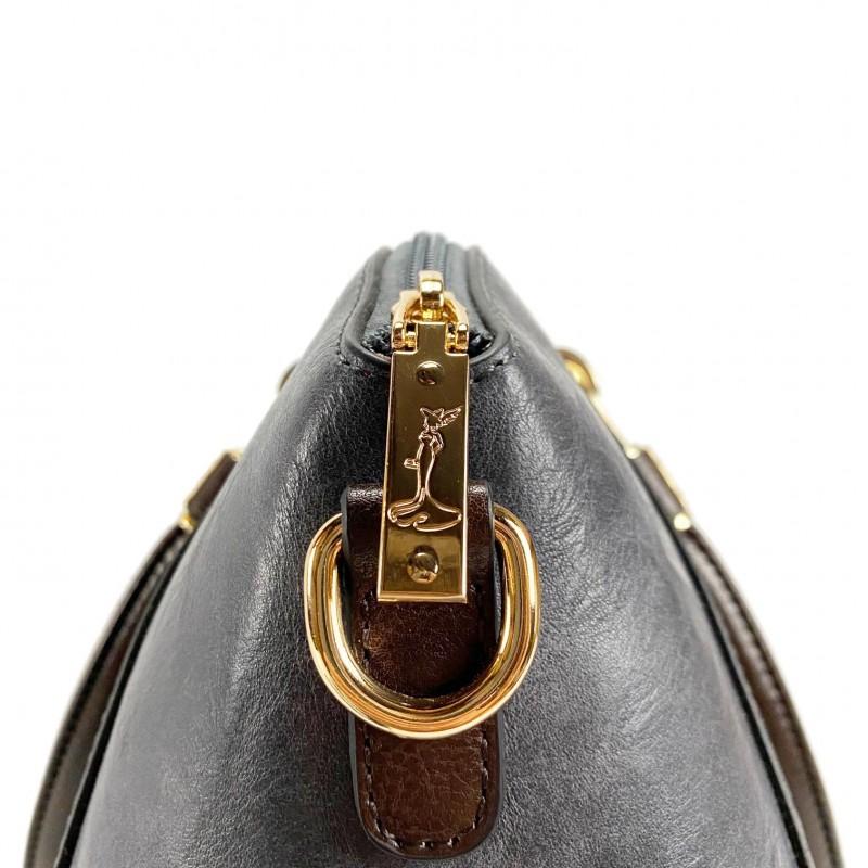 Женская классическая сумка Isa Paulina DS серо-синяя - 14 фото