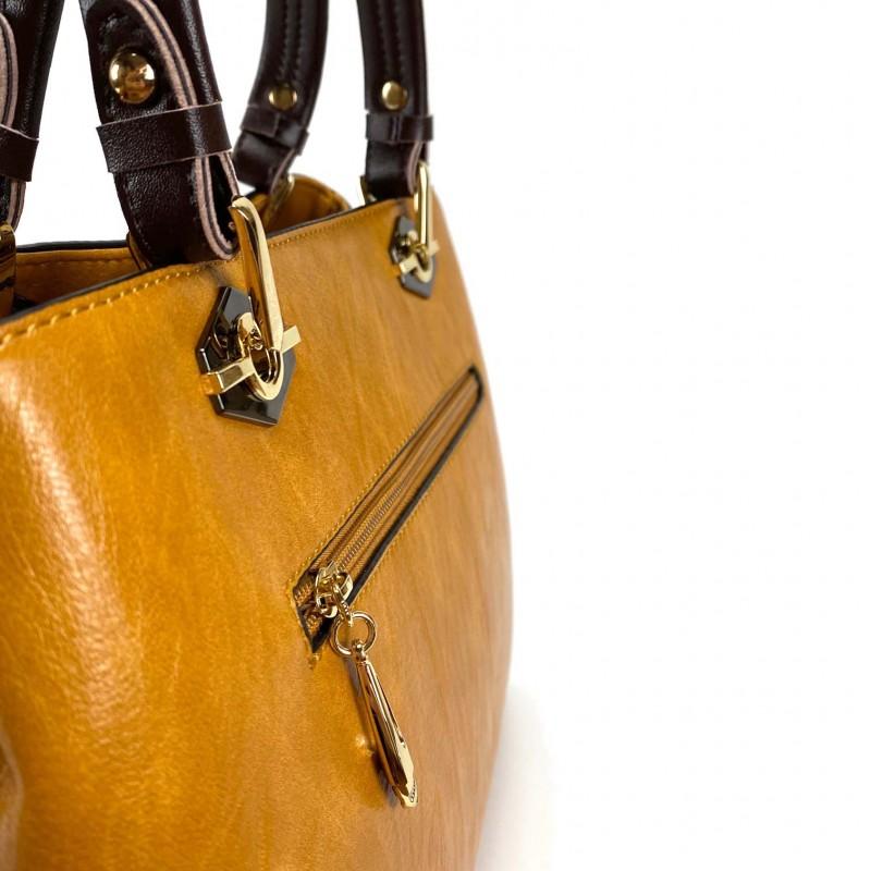 Женская классическая сумка Miranda горчичная фото - 7